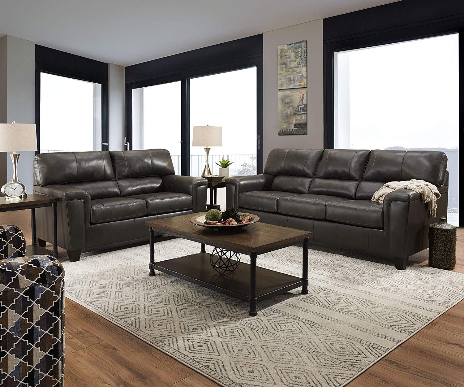 Awesome 2038 Lane Furniture Soft Touch Fog Leather Sofa And Loveseat Beutiful Home Inspiration Truamahrainfo