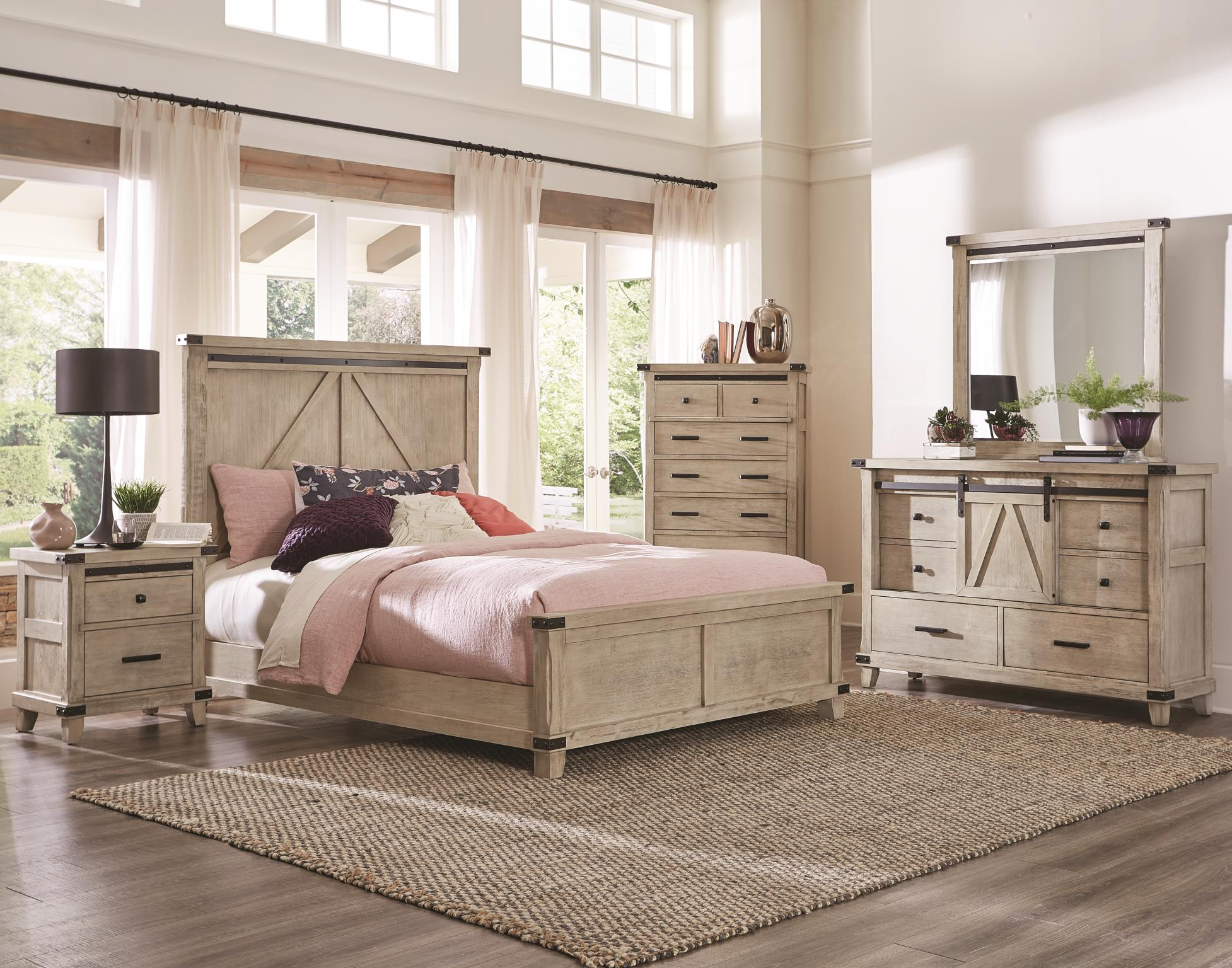 Kith 8 Rustic Cream Bedroom Group