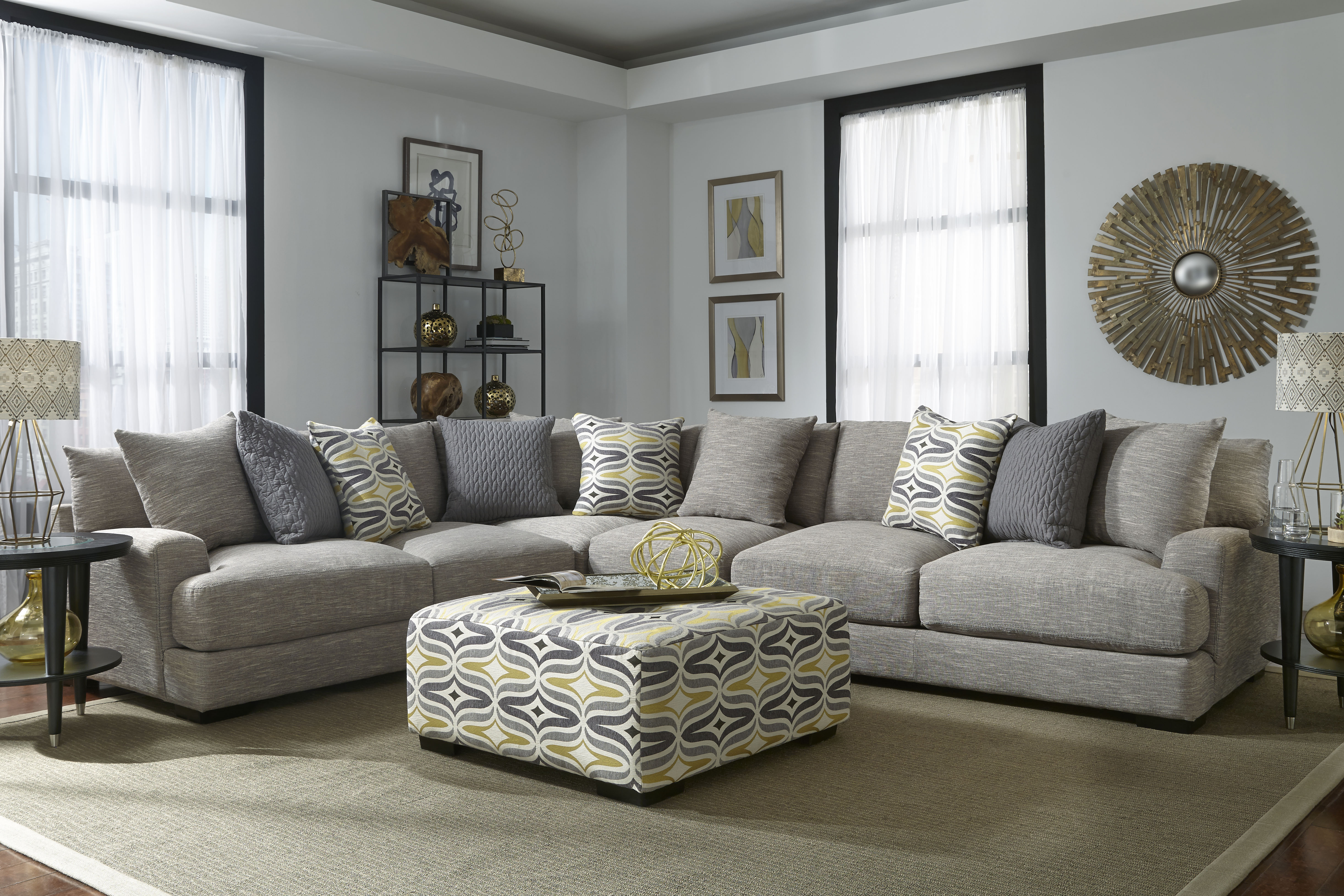 808 Barton Grey Franklin Sectional Mattress And